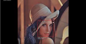facial recognition woman face camera