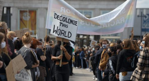 Decolonise the world. Image from a Black Lives Matter protest