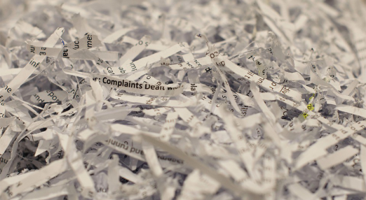 Shreded paper