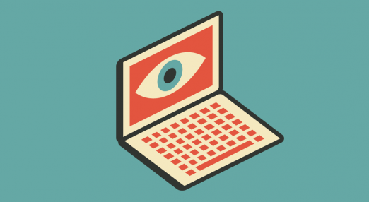 A spying laptop.