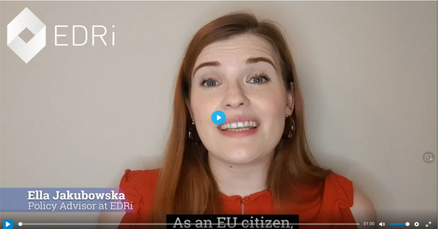 A capture of Ella's video about the importance of signing the ECI. Click on the image to be taken to YouTube to watch the video.